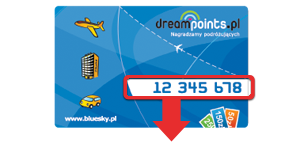 Przyłącz się do Programu DreamPoints. Kartę wyślemy pocztą.